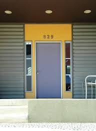 corrugated metal siding entry modern with address numbers colorful entry corrugated cementitious siding1