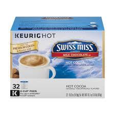 swiss miss hot cocoa keurig hot k cup pods milk chocolate 32 ct