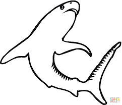 Small Picture Tiger Shark 4 coloring page Free Printable Coloring Pages