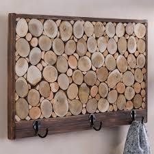Reclaimed Wood Wall Coat Rack Reclaimed Wood Sliced Coat Hook Rack VivaTerra 80