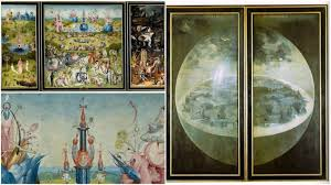 hyeronimus bosch s triptych the garden of earthly delights can be closed to reveal another painting on its exterior panels