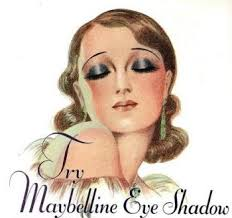 1930s makeup for evening heavy all over eyeshadow