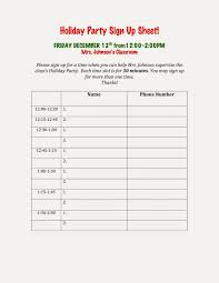 Party Sign Up Sheet Template Holiday Sign Up Sheet Templates Luxury Party Sign Up Sheet