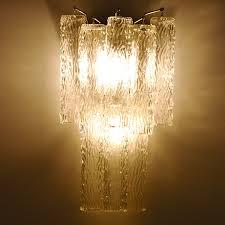 incredible glass wall sconce art deco venini dd organic style glass wall sconce lighting
