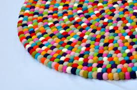 wonderful felt ball rug