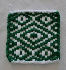 Potholder Loom Patterns Extraordinary 48 Best Potholder Patterns Images On Pinterest Hot Pads Pot