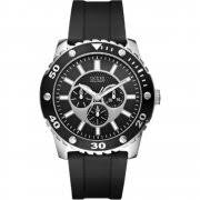 guess chase grey dial chronograph chrome stainless steel bracelet guess web black dial rubber strap mens watch w10616g1