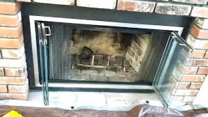 fireplace cleanout door fireplace ash dump