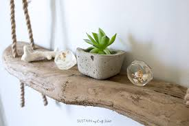materials needed for this diy rope shelf with driftwood