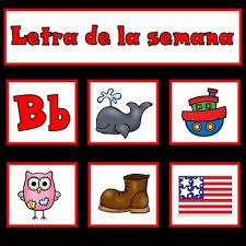 Letra De La Semana Spanish Letter Of The Week Pocket Chart Teachmorespanish