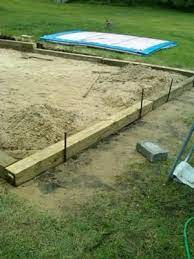 This also shows how to level gro. Leveling Yard For Intex Pool Installing Above Ground Pool Pool Sand Intex Pool