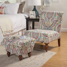 coral accent chair. Delighful Accent HomePop Coral And Turquoise Paisley Accent Chair Ottoman To C