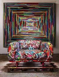 v modern furniture. modern mixed media graffiti furniture home decor design v
