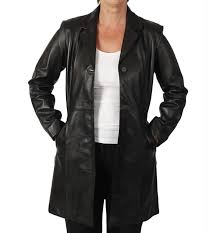 las semi fitted style 3 4 black leather jacket