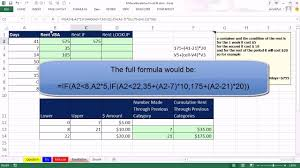 Excel Sliding Scale Chart Mr Excel Excelisfun Trick 136 Variable Rent Calculation Based On Days Vba If Or Vlookup