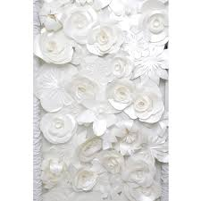 White Paper Flower Wall Chanel Paper Flower Wall Koncept Event Design