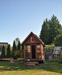 tiny house retirement community. A Tiny, Mobile House In Portland, Oregon Yard. Tiny Retirement Community