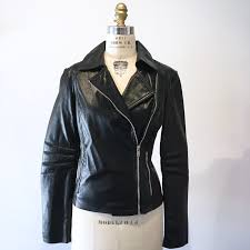 1293 size l zara faux leather moto jacket black