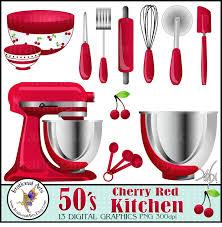 Red Retro Kitchen Accessories Kitchen Accessories Cherries Courtyard Garden And Pool Designs