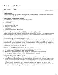 Resume Examples Leadership Resume Templates Design Cover Letter