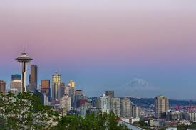 Seattle Cityscape Wa Seattle Skyline View From Kerry Park With Mount Rainier Photographic Print By Jamie And Judy Wild Art Com