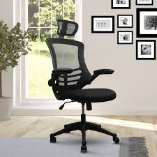 modern executive office chairs. Wonderful Chairs Modern HighBack Mesh Executive Office Chair With Headrest And Flip Up Arms To Chairs I