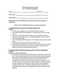 article summary templates pdf doc premium templates sample article summary template