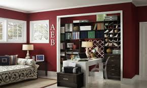 home office in a closet. Size 1280x768 Home Office Closet Design Area In A K