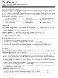 public works resume sample