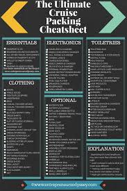 Cruise Packing List The Ultimate Cruise Packing Checklist Entrepreneurs Odyssey