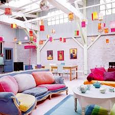 inspiring bohemain living room designs be adventurous with textures and colors just check out how good colorful hanging lights and bohemian style living room