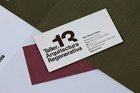 Taller 13 Regenerative Architecture. Architect Business Cards