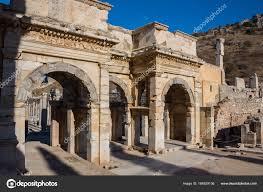 Selcuk Izmir Turquie 25 Novembre 2014 Bibliothèque De Celsus