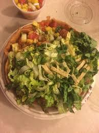 taco salad at qdoba in rochester