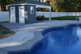 stamped concrete pool patio. Installing A Stamped Concrete Pool Patio