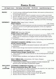 Textile Resume Examples Best of Business Student Resume Image Collections Resume Format Examples 24