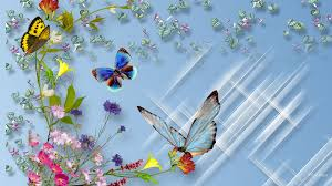 Butterfly Beautiful Flowers Wallpapers ...
