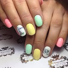 Gelové Nehty Pastelové Barvy