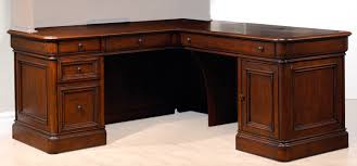 villa toscana piece corner desk  brown cherry  leon's