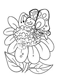 Flower Coloring Pages For Kids Butterfly Coloring Sheet Free