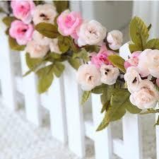 Rosa Rose Girlande Blume Vintage Shabby Chic Stil Hochzeit String
