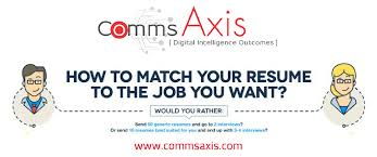 Tailor Your Resume Tailor Your Resume To Land That Job Infographic Comms Axis 12