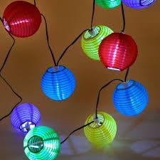 Leuk Lichtsnoer Met 10 Kleine Led Lampionnen In 5 Verschillende