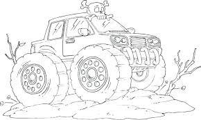 Grave Digger Coloring Pages Monster Truck Coloring Pages Monster