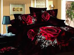 100 cotton luxury romantic red rose 3d bedding sets red rose bedspreads and comforters