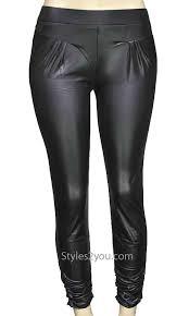 romy las faux leather leggings in black pretty angel apparel aptln41412bk pretty angel pants 19 00