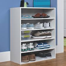 closetmaid 5 tier stackable shoe rack for shoes organizer idea