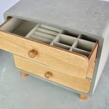 large jewellery box wood and concrete