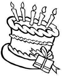 Small Picture Happy Birthday Cake and a Present Coloring Page Happy Birthday