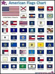 American Flags Chart Contains The U S A Flag And All The